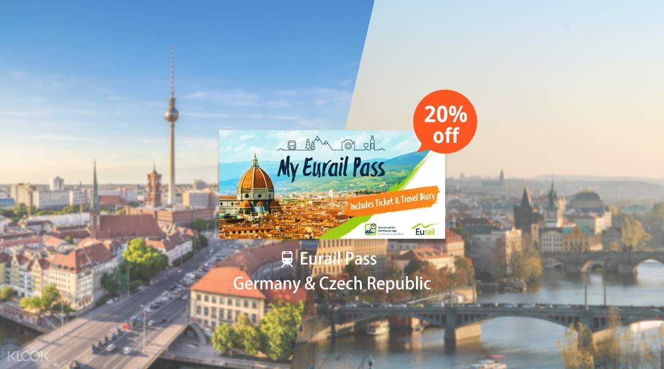Eurail Pass for Germany & Czech Republic (4, 5, 6, 8 or 10 Days)